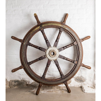 BRASS / TEAK WOOD WHEEL